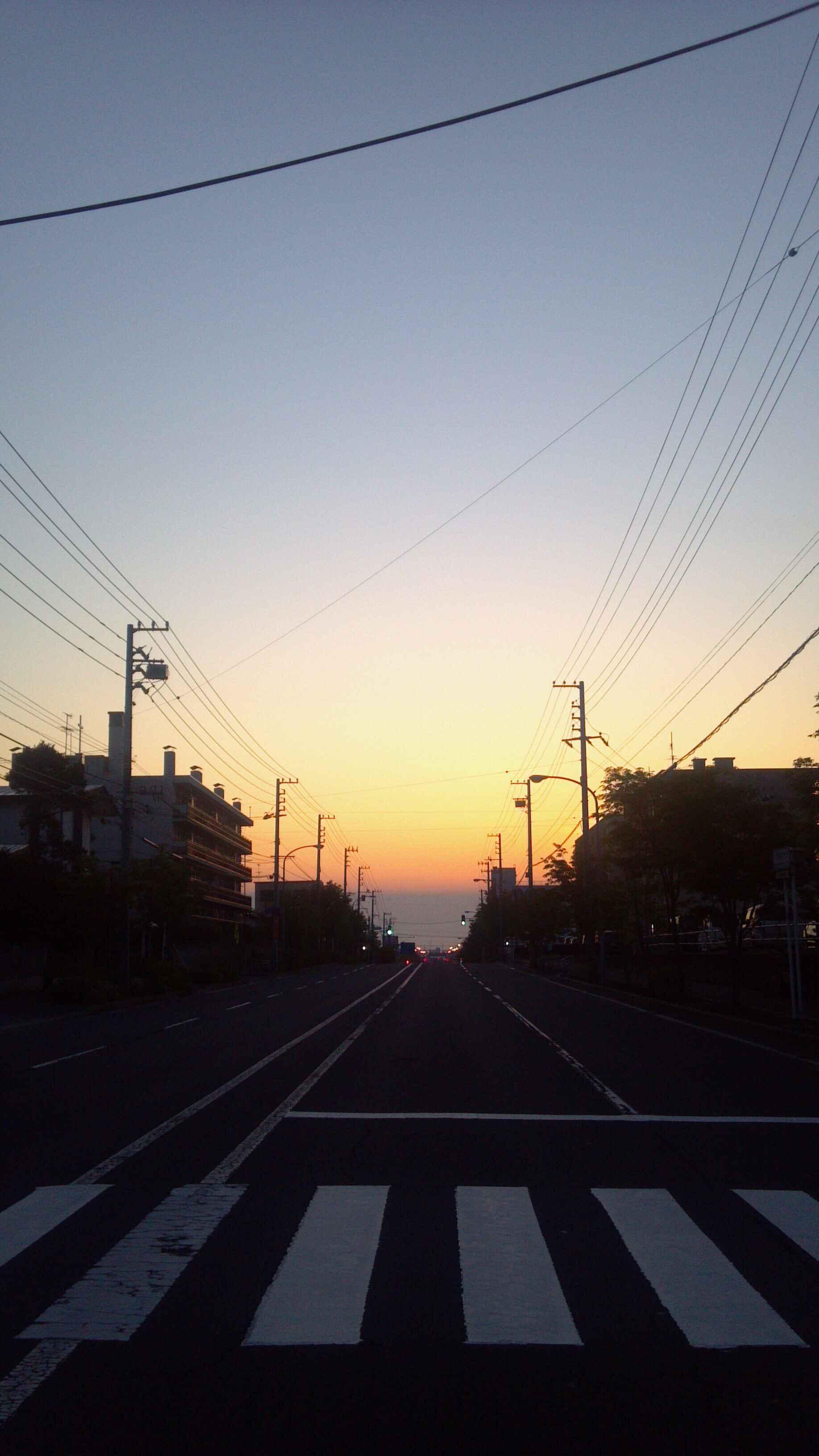 【風景】2012年の高砂町の朝焼け